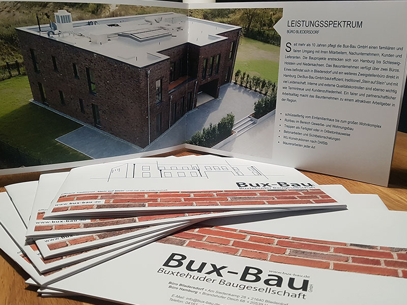 Broschüre-Bux-Bau-Design-Druck